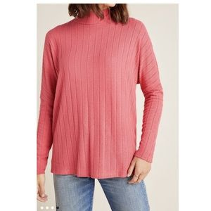 Anthropologie Fiona Hacci Tunic. Rose. Large.